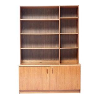 Danish Modern Cabinet Top Bookcase
