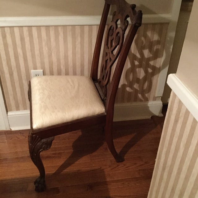 Maitland-Smith Mahogany Side or Accent Chairs- A Pair - Image 3 of 7