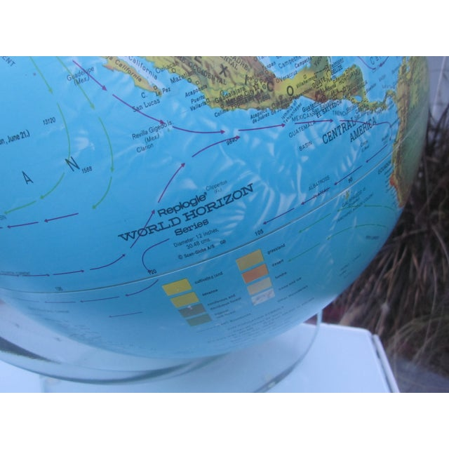 Vintage Globe with Thick Lucite Base - Image 8 of 9