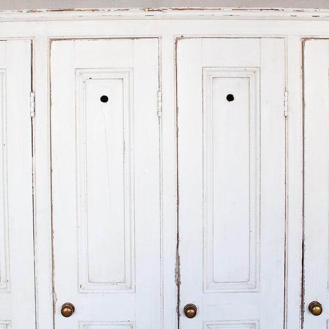 Antique White Distressed Schoolhouse Lockers - Image 3 of 11