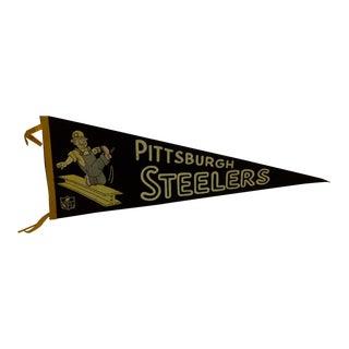 Vintage Football Team Pennant - Pittsburgh Steelers Circa 1950