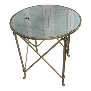 Ballard Designs Gold Mirrored Accent Table