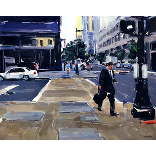 """""""Business Man, Downtown Raleigh, NC"""" Painting"""