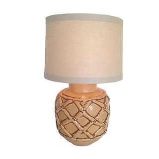 1960s Ceramic Bamboo Style Lamp