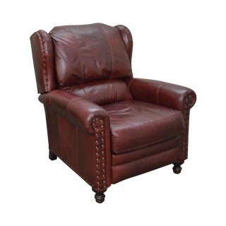 Bradington Young Oxblood Leather Recliner Lounge Chair
