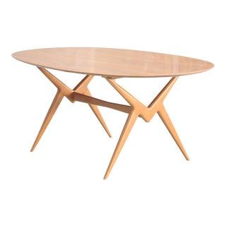 Renzo Rutili Vintage Midcentury Modern Oval Table for Johnson Furniture