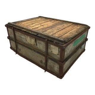 Rustic Wood & Metal Industrial Cart Coffee Table