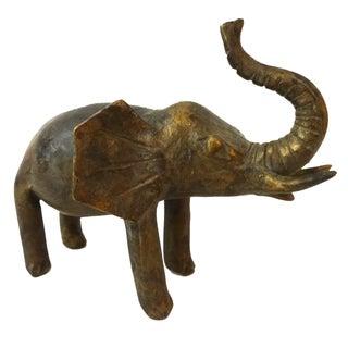 Bronze African Ashanti Akan Sculpture - Elephant