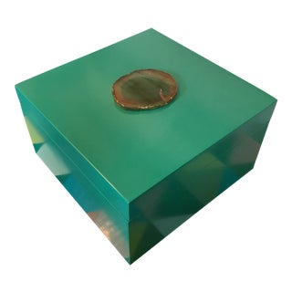 Lacquered Agate Lidded Box