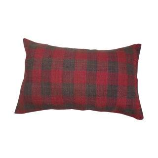 Plaid Style Turkish Fabric Lumbar Pillow
