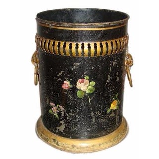 Floral Bouquet Tole Bucket