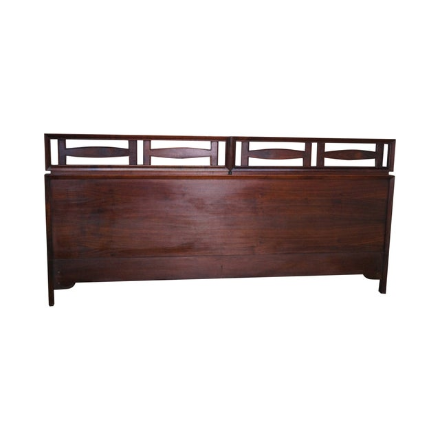 Mid Century Modern Walnut King Size Headboard - Image 1 of 10