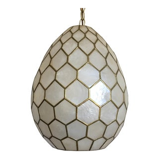 Honeycomb Capiz Shell Pendant Light