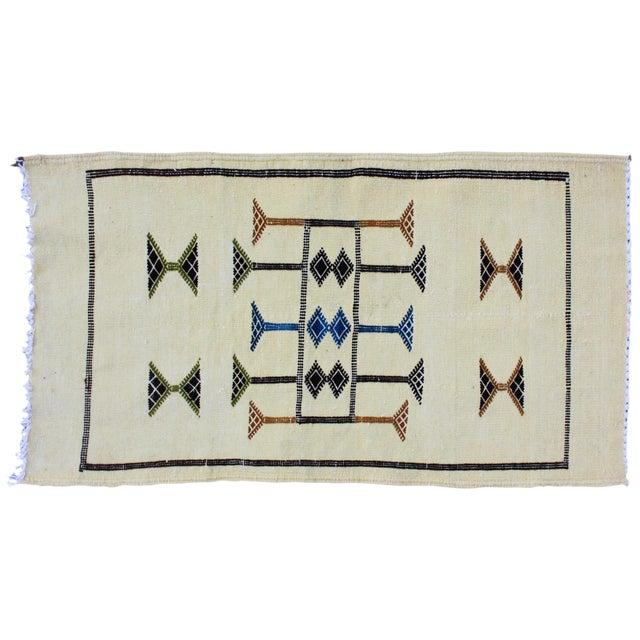 Moroccan Berber Silk Rug - 3'3'' X 1'9'' - Image 1 of 4