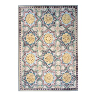 "Pasargad Aubusson Hand Woven Wool Rug - 9' 0"" X 12' 5"""