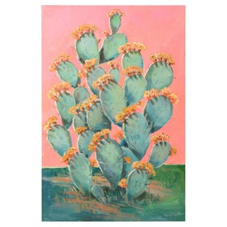 PINK CACTUS II Signed Original Painting