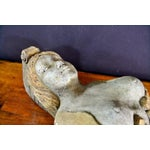 Image of Vintage Stone Woman Hanging Sculpture