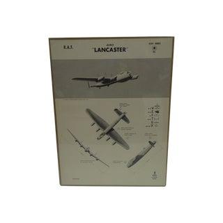 """Vintage WWII """"Lancaster"""" Recognition Poster"""