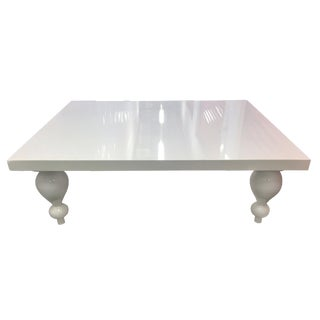 White Lacquer Coffee Table