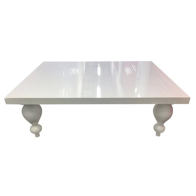 White Lacquer Coffee Table Chairish