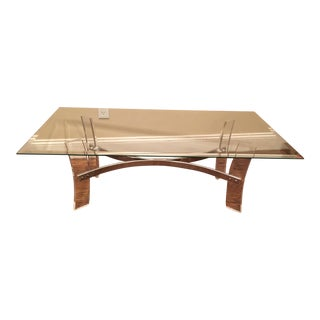 Modern Perspex & Glass Coffee Table