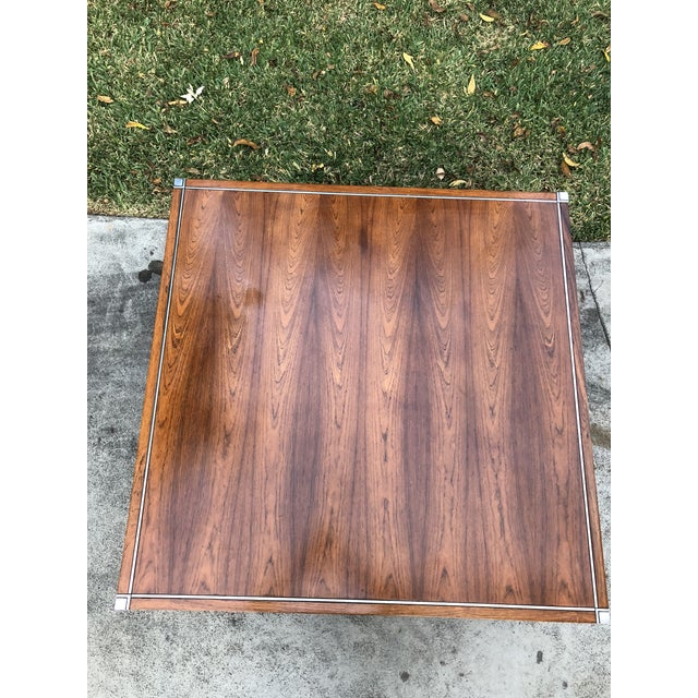 Knoll Rosewood & Chrome Coffee Table - Image 4 of 8