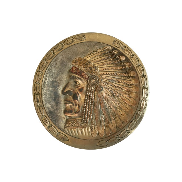 Image of Copper Indian Chief Minitray