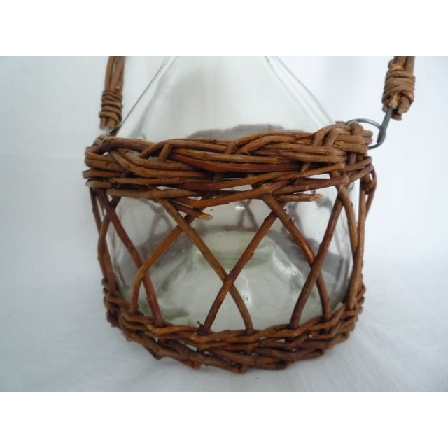 Vintage Demijohn in Basket - Image 3 of 5