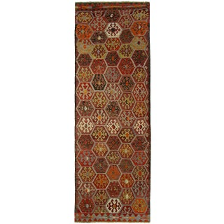 "Turkish Kilim Afyon Rug - 3'5"" x 10'8"""