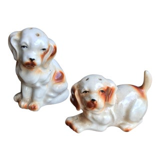 Labrador Vintage Salt & Pepper Shakers - A Pair