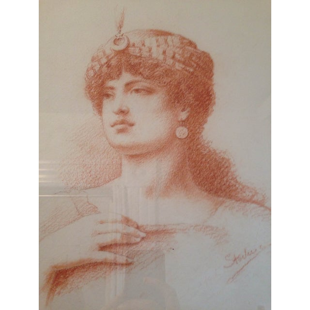 Image of French Sepia Portrait of a Women, Circa 1910