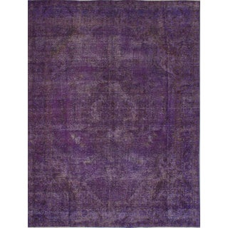 "Purple Vintage Turkish Overdyed Rug - 9'7"" X 13'0"""