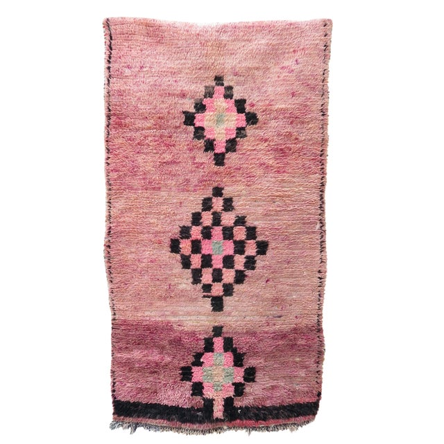 Pink Moroccan Azilal Runner - 2′11″ × 5′5″ - Image 1 of 4