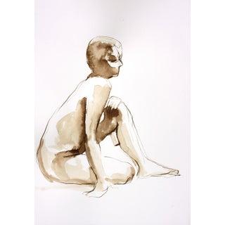 "Paine ""Female Nude Seated, Leaning on One Knee"""