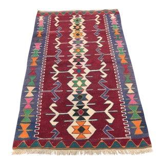 Vintage Turkish Oushak Kilim- 3′1″ × 4′8″
