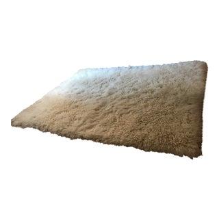 White Hand Knotted Flokati Wool Rug - 9' x 11'