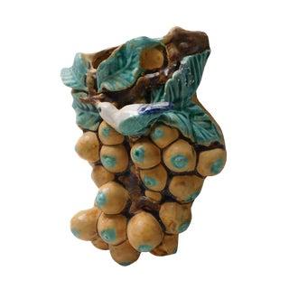 Bird & Grapes Wall Mount Vase