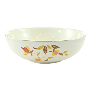 Round Autumn Leaf & Vine Harvest Bowl