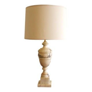 Vintage White Marble Urn Table Lamp