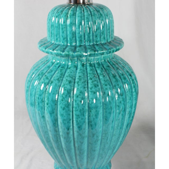 Paul Hansen Turquoise Ginger Jar Lamps - A Pair - Image 4 of 5