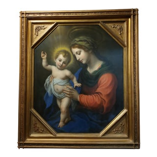 After Carlo Dolci - Madonna with Child- 18th century Magnificent Oil painting