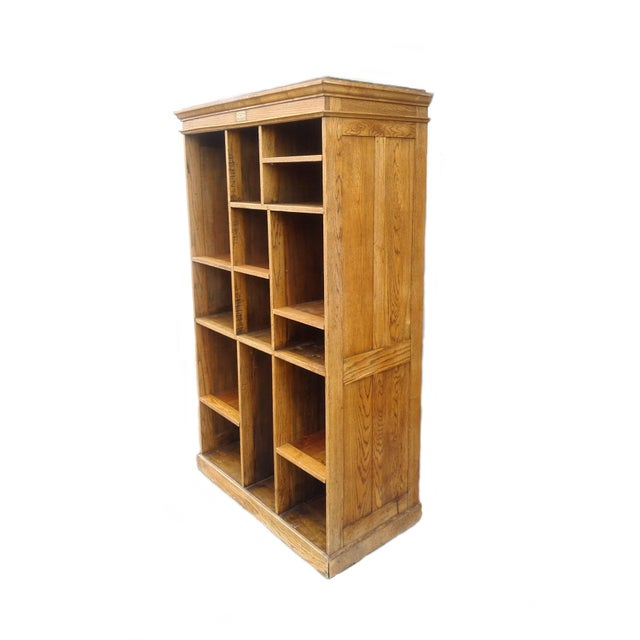 Image of MCM Rustic Wood Book Shelf Storage Unit