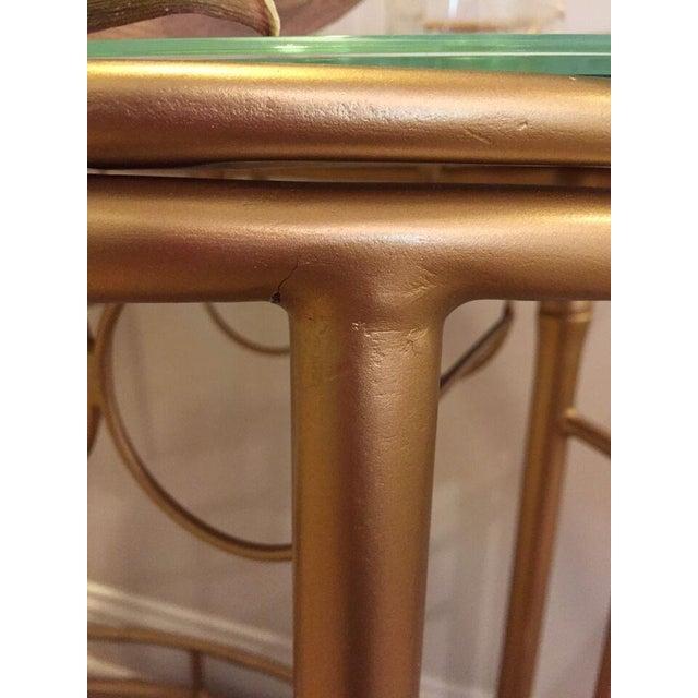 Hollywood Regency Gold Bar Cart - Image 6 of 6