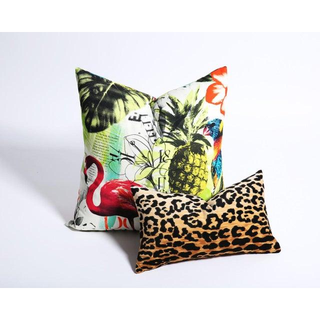 Pineapple Flamingo Art Tropical Decorative Euro Sham Pillow - Image 4 of 6