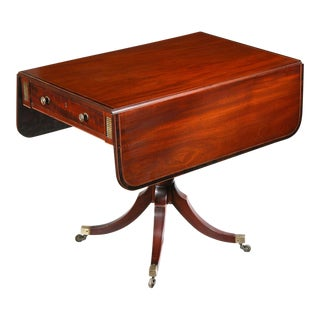 Regency Inlaid Mahogany Pembroke Table on Saber Legs
