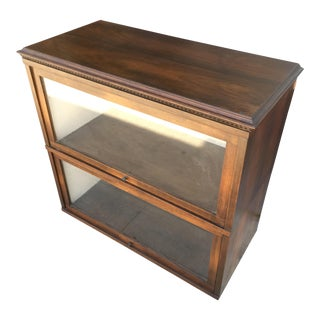 Globe-Wernicke Glass Front Storage Cabinets - A Pair