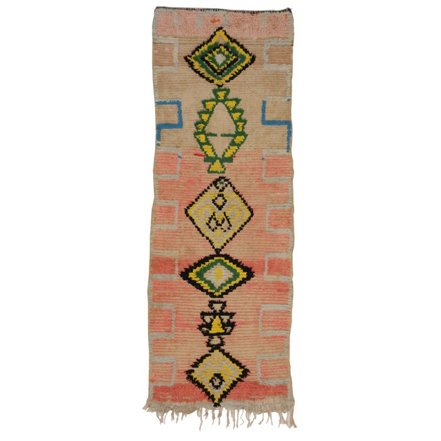 Vintage Moroccan Berber Tribal Design Runner - 3'8 x 8' - Image 6 of 7