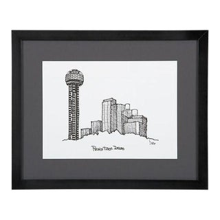 Reunion Tower, Dallas Framed City Print