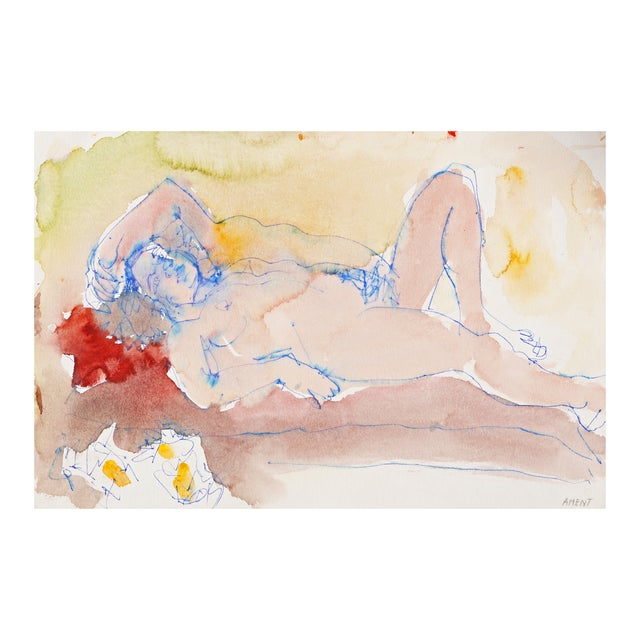 Janet Ament 1955 Reclining Nude - Image 1 of 8