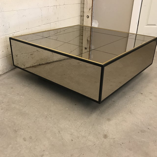 Image of Smoke Bronze Mirror Cube Coffee Table